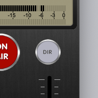 LUCI Rooms audio over IP live broadcasting tool, DIR button for recorded files.