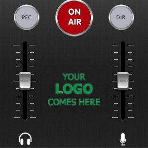 LUCI Rooms audio over IP live broadcasting tool, your logo comes here in app.